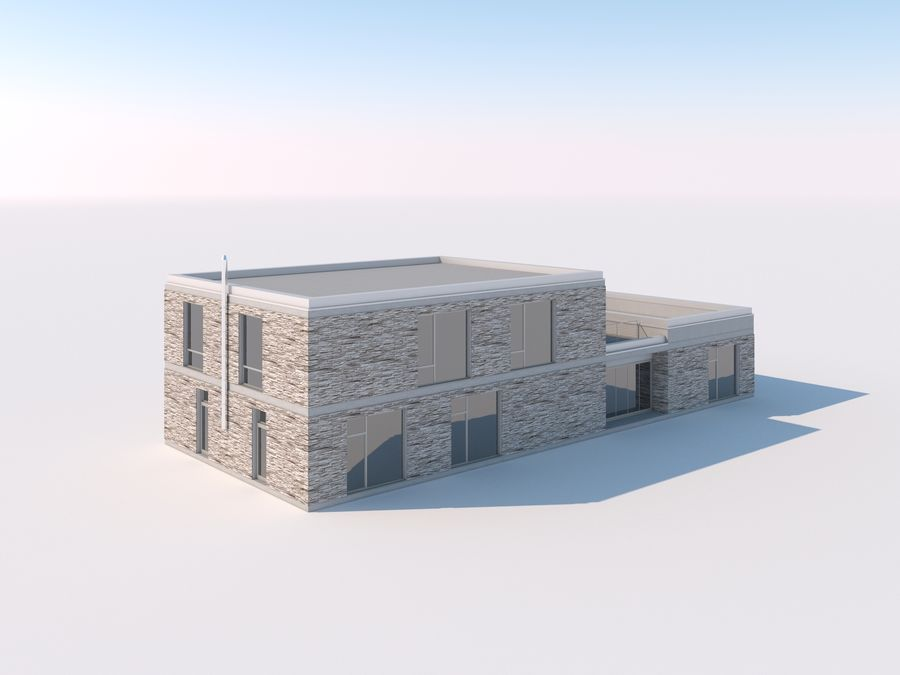 Budynek restauracji royalty-free 3d model - Preview no. 1
