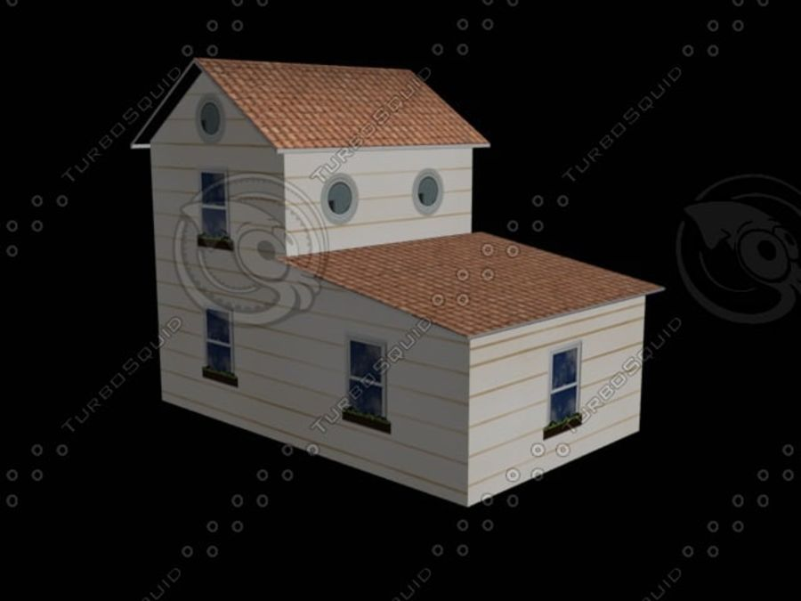 hus mitt royalty-free 3d model - Preview no. 2