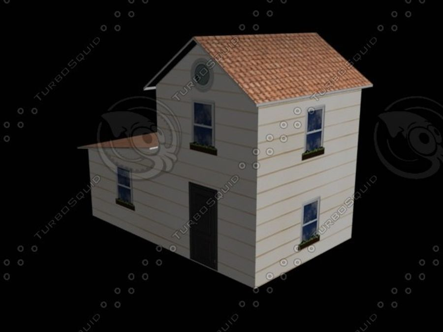 hus mitt royalty-free 3d model - Preview no. 4