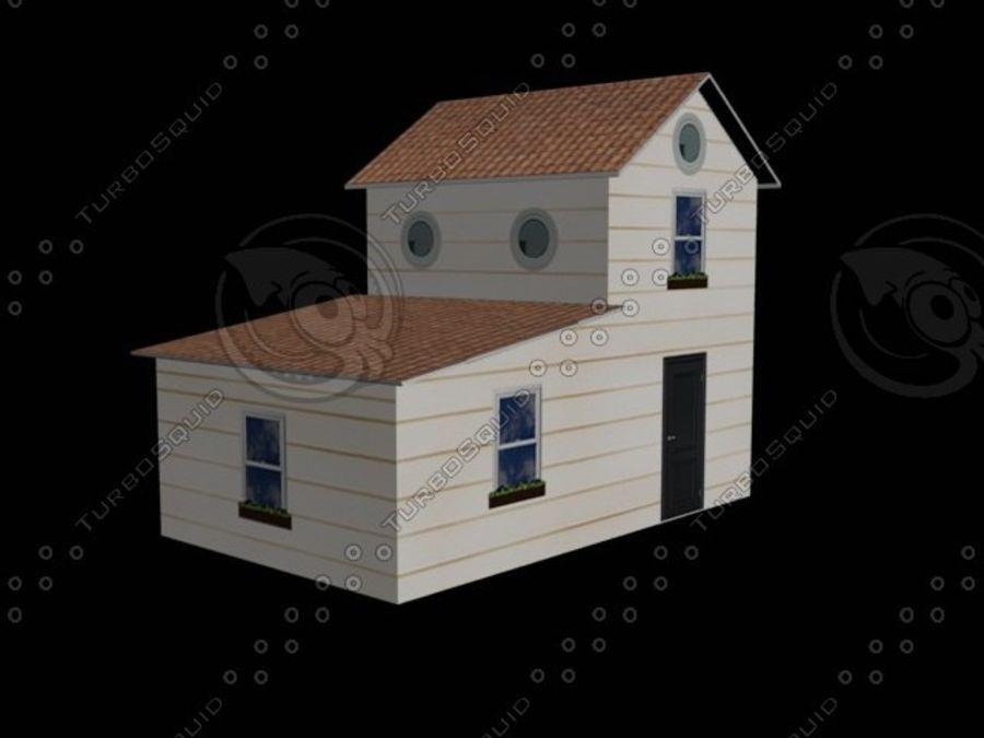 hus mitt royalty-free 3d model - Preview no. 3