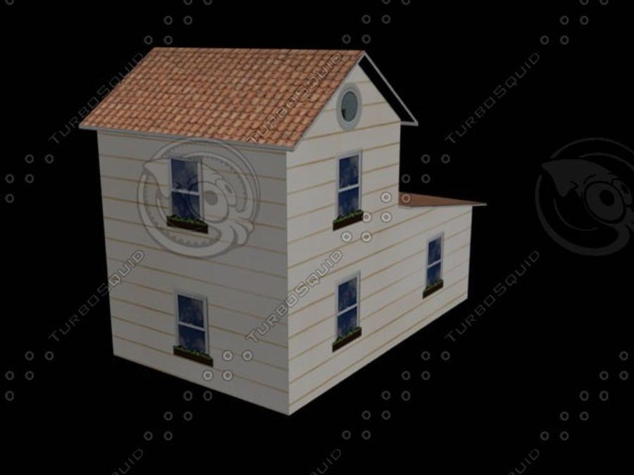 hus mitt royalty-free 3d model - Preview no. 1