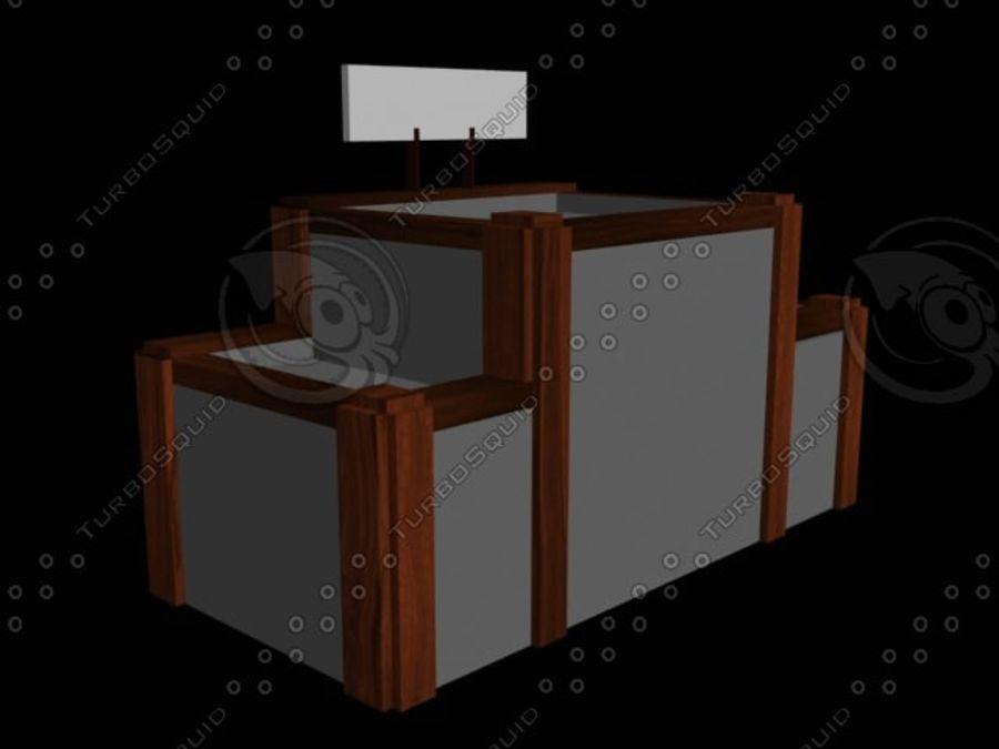 kontor mitt royalty-free 3d model - Preview no. 3