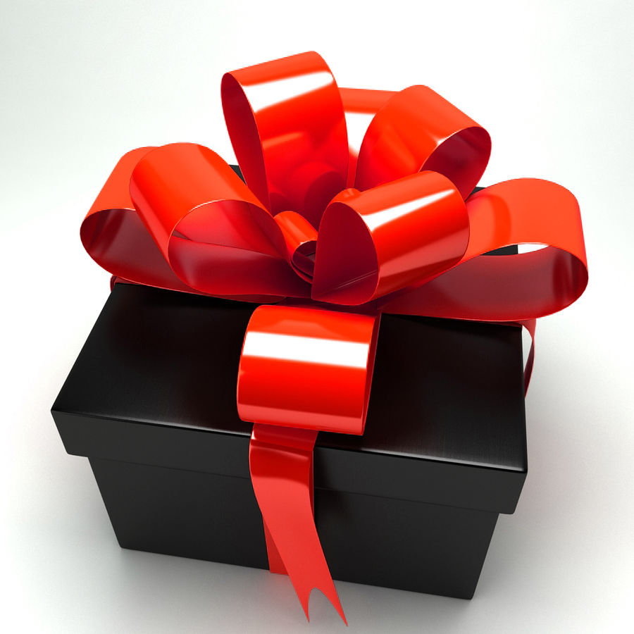 Geschenkbox royalty-free 3d model - Preview no. 10