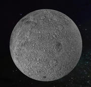 Photorealistic Moon 3d model