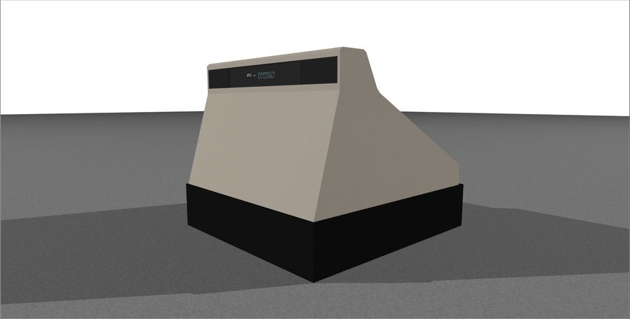 Cash Register With Opening Drawer royalty-free 3d model - Preview no. 12