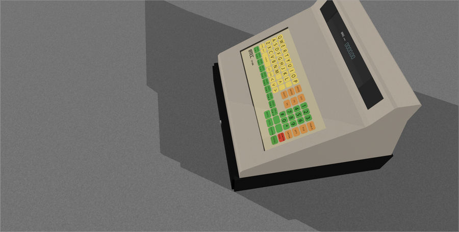 Cash Register With Opening Drawer royalty-free 3d model - Preview no. 6