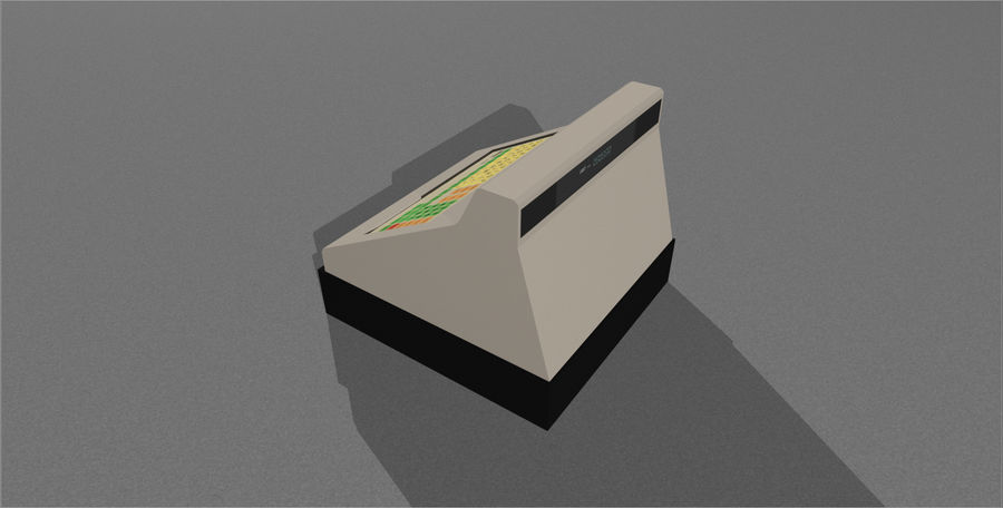 Cash Register With Opening Drawer royalty-free 3d model - Preview no. 13