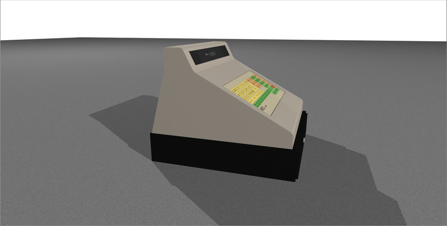 Cash Register With Opening Drawer royalty-free 3d model - Preview no. 10
