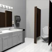 Public Restroom / Bathroom Set 3d model