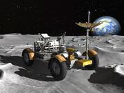 Carro Apollo Lunar Rover Moon 3d model