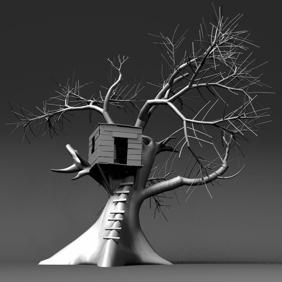 Domek na drzewie royalty-free 3d model - Preview no. 2