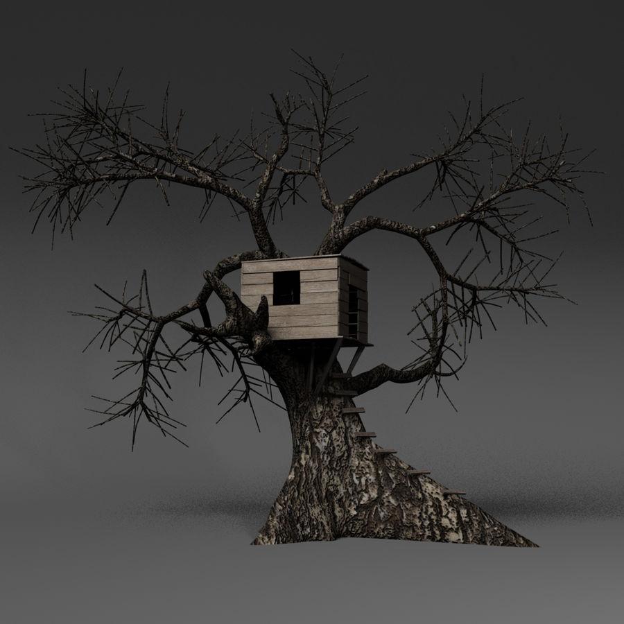 Domek na drzewie royalty-free 3d model - Preview no. 3