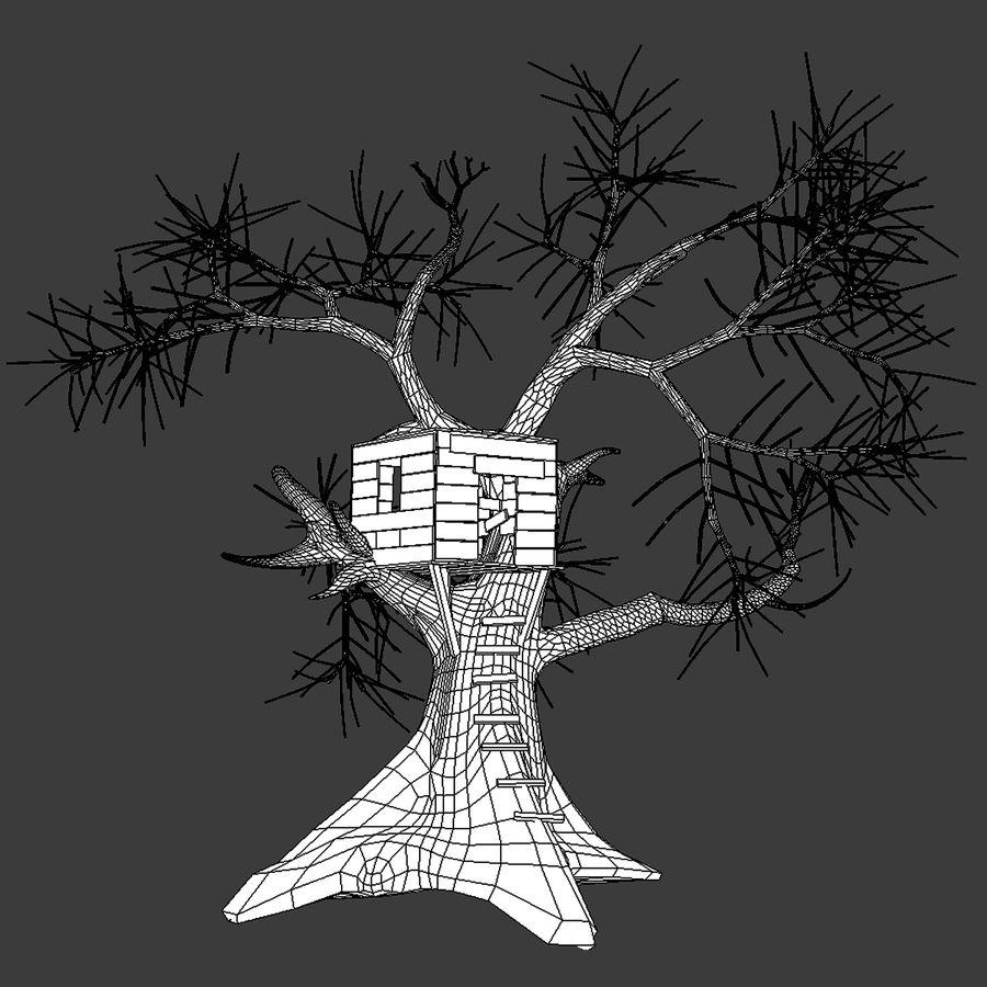Domek na drzewie royalty-free 3d model - Preview no. 5