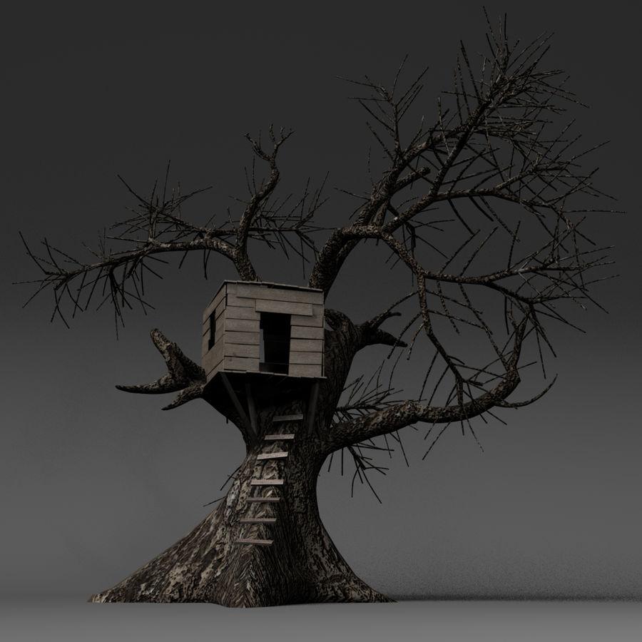 Domek na drzewie royalty-free 3d model - Preview no. 1