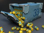 Container - sci-fi (updated) 3d model