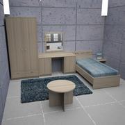 Sängrum 03 3d model