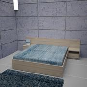 Sängrum 01 3d model