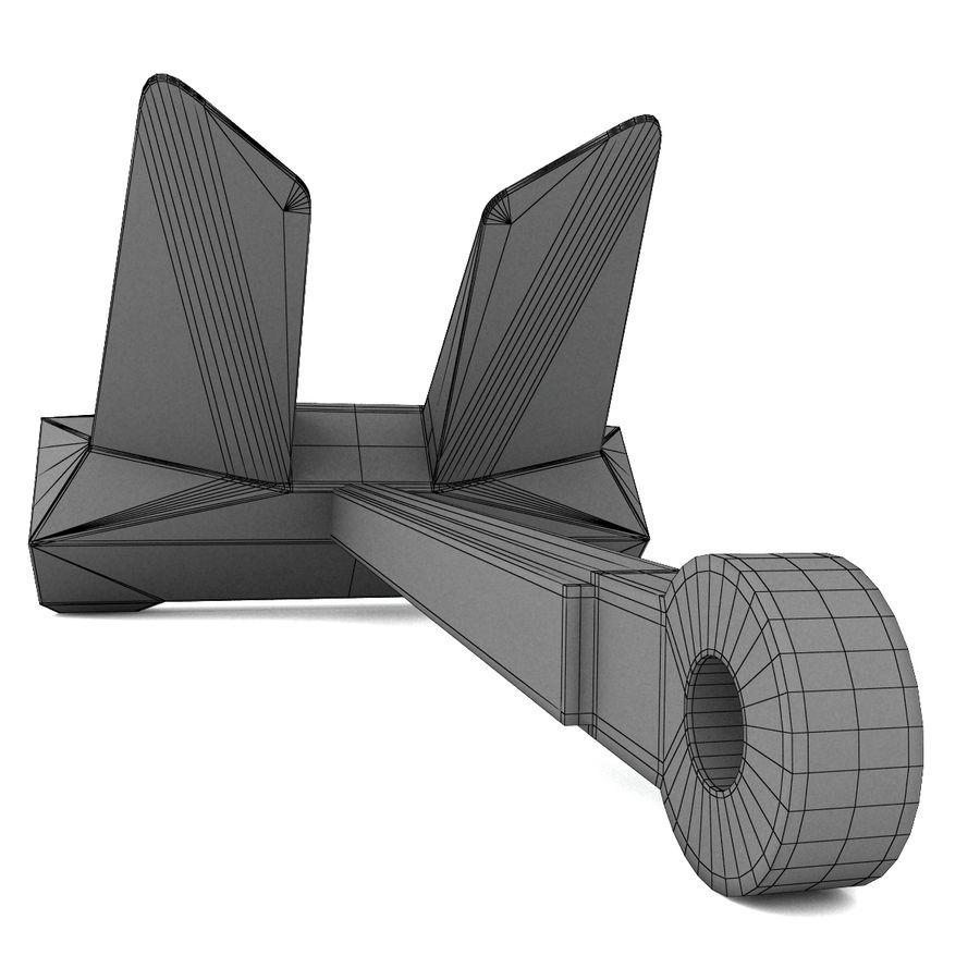 ancre de bateau royalty-free 3d model - Preview no. 9