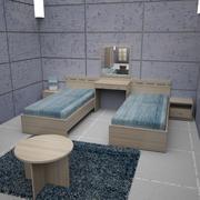 Sängrum 02 3d model