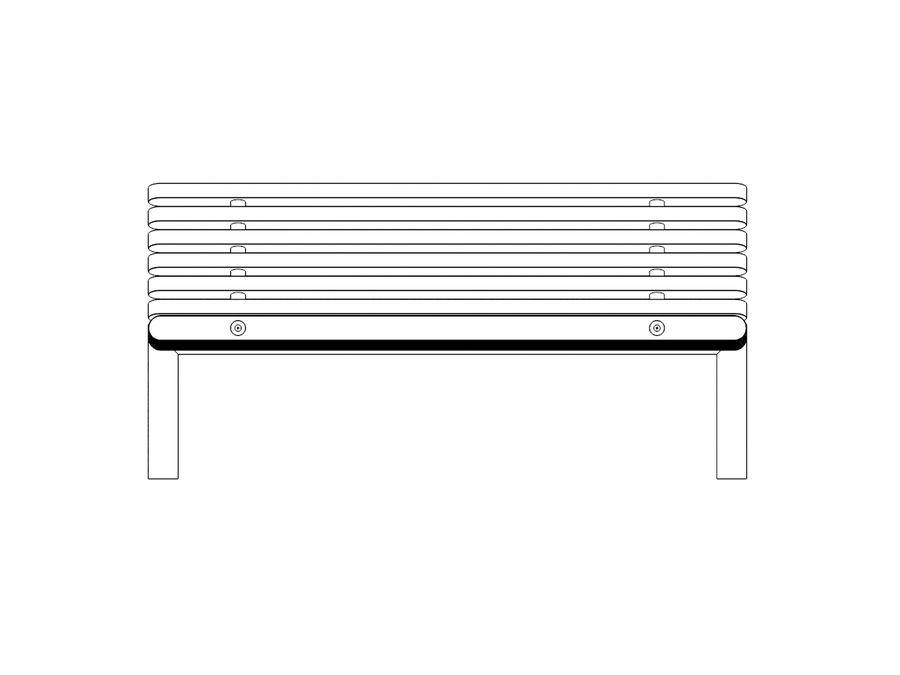 Bench YPSILON royalty-free 3d model - Preview no. 4