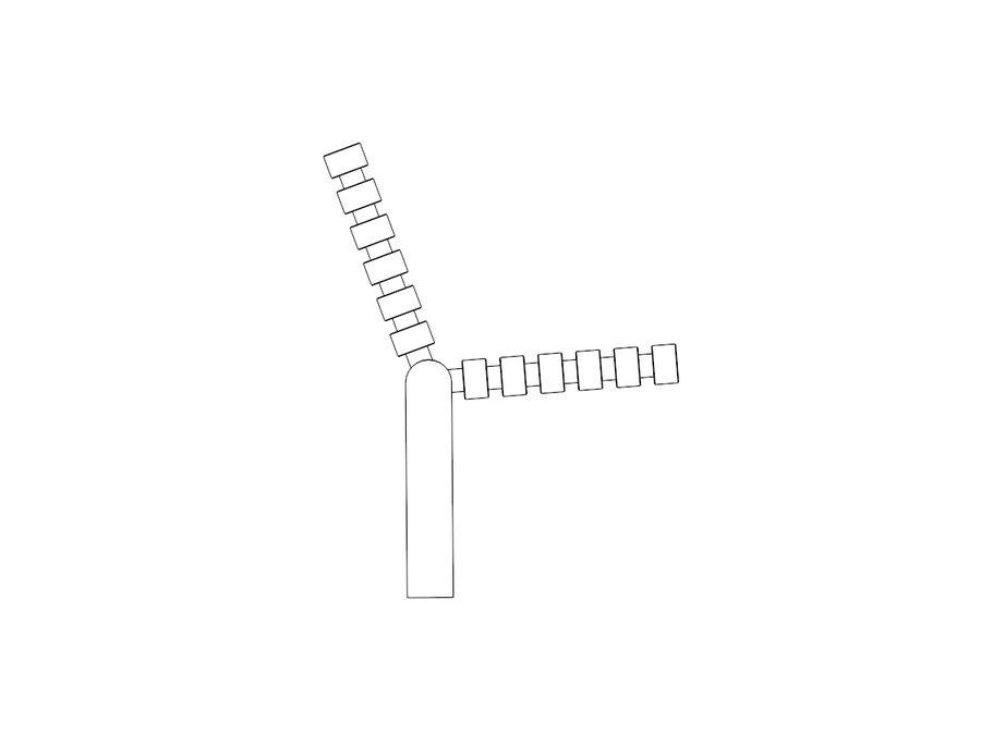 Bench YPSILON royalty-free 3d model - Preview no. 5