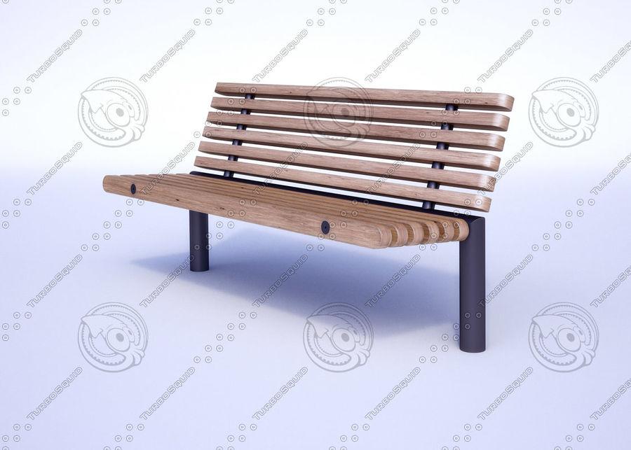 Bench YPSILON royalty-free 3d model - Preview no. 1