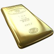 sztabka złota 3d model