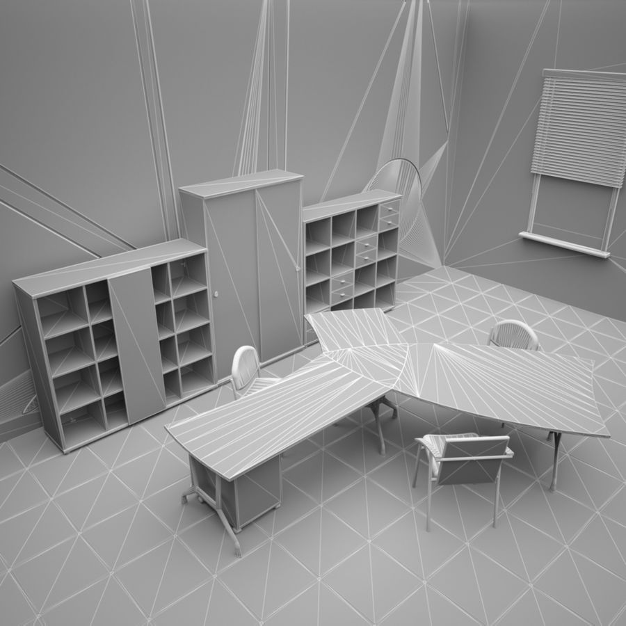 Office 65 royalty-free 3d model - Preview no. 3