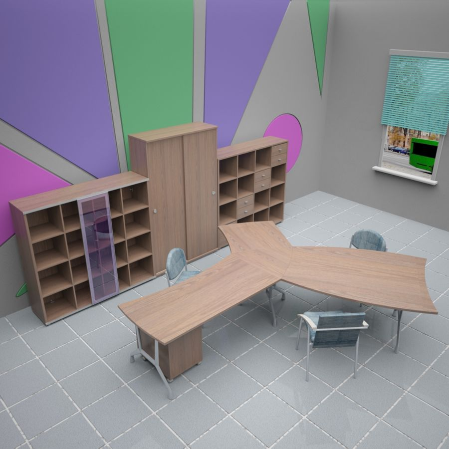 Office 65 royalty-free 3d model - Preview no. 2
