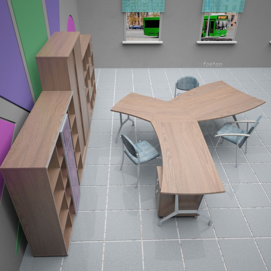 Office 65 royalty-free 3d model - Preview no. 10