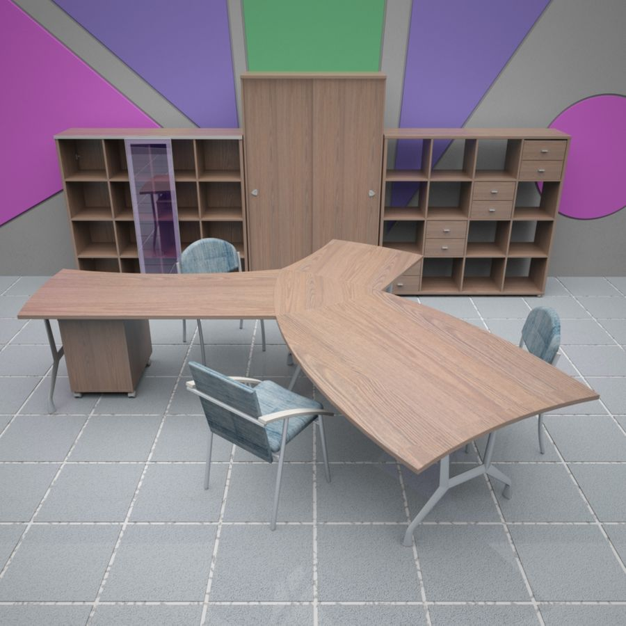 Office 65 royalty-free 3d model - Preview no. 6