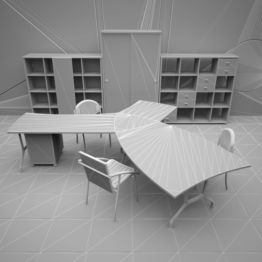 Office 65 royalty-free 3d model - Preview no. 7