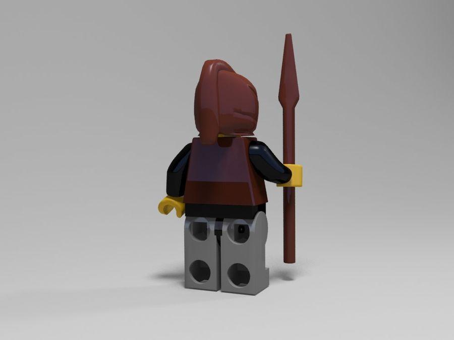 中世のレゴキャラクター3 royalty-free 3d model - Preview no. 6