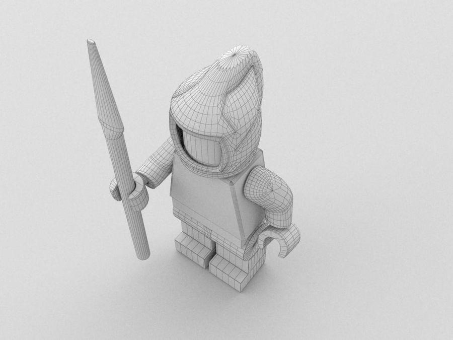 中世のレゴキャラクター3 royalty-free 3d model - Preview no. 9