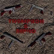 Thompson & MP40 Set mitraillette 3d model