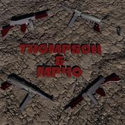 Set di pistole per mitragliatrice Thompson e MP40 3d model