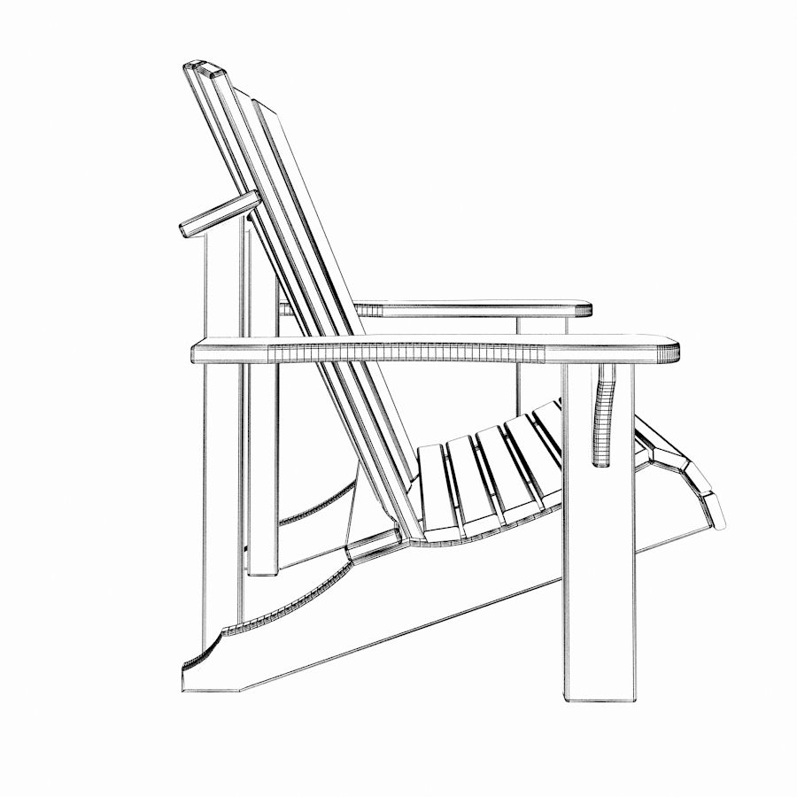 Adirondack Chair 3D Model $10 - .max - Free3D