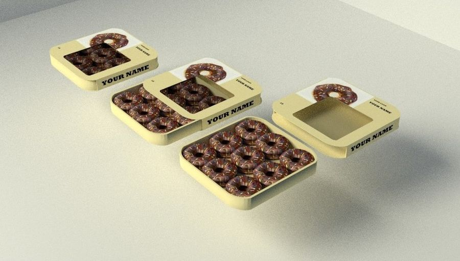 Chocolate Donut royalty-free 3d model - Preview no. 1