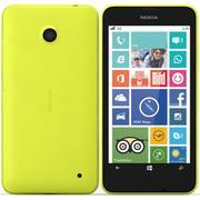 Nokia Lumia 630 yellow 3d model