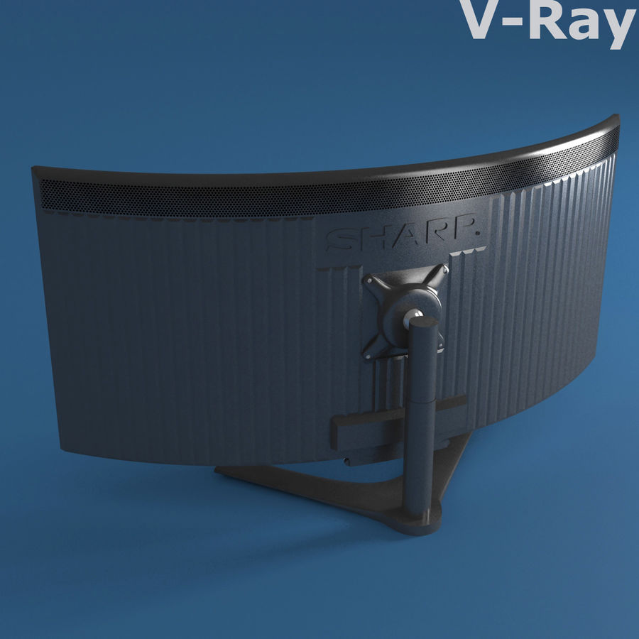 PC-Monitor royalty-free 3d model - Preview no. 8
