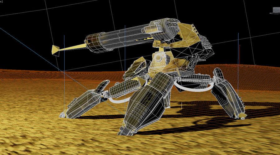 Spider Quad Mech royalty-free 3d model - Preview no. 10