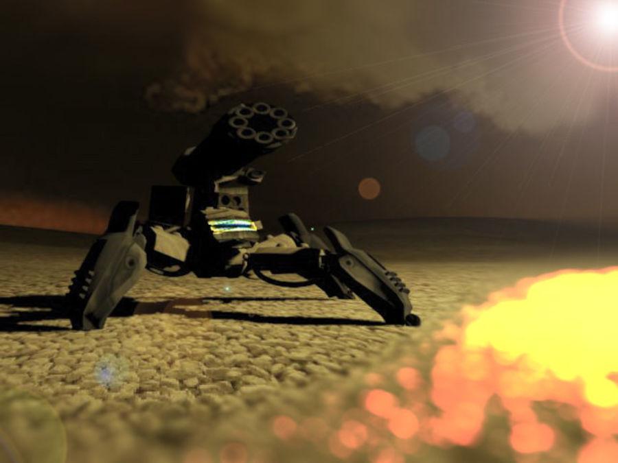Spider Quad Mech royalty-free 3d model - Preview no. 1