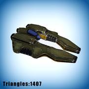 Laag poly ruimteschip 1 3d model