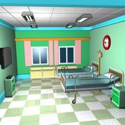 Interior de sala de emergência dos desenhos animados 3d model