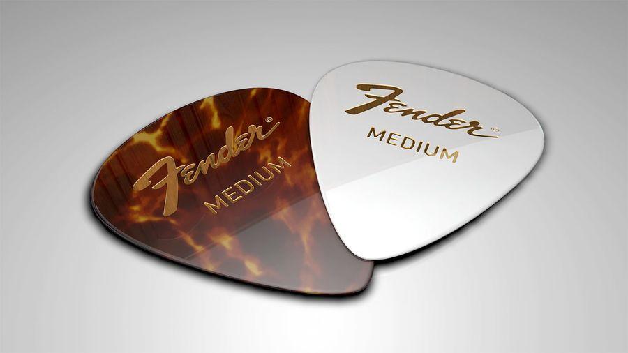 Guitar Picks royalty-free 3d model - Preview no. 2