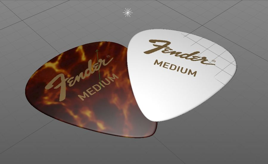 Guitar Picks royalty-free 3d model - Preview no. 3