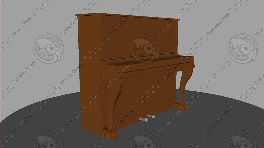Piano royalty-free 3d model - Preview no. 2