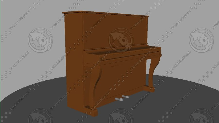 ピアノ royalty-free 3d model - Preview no. 2