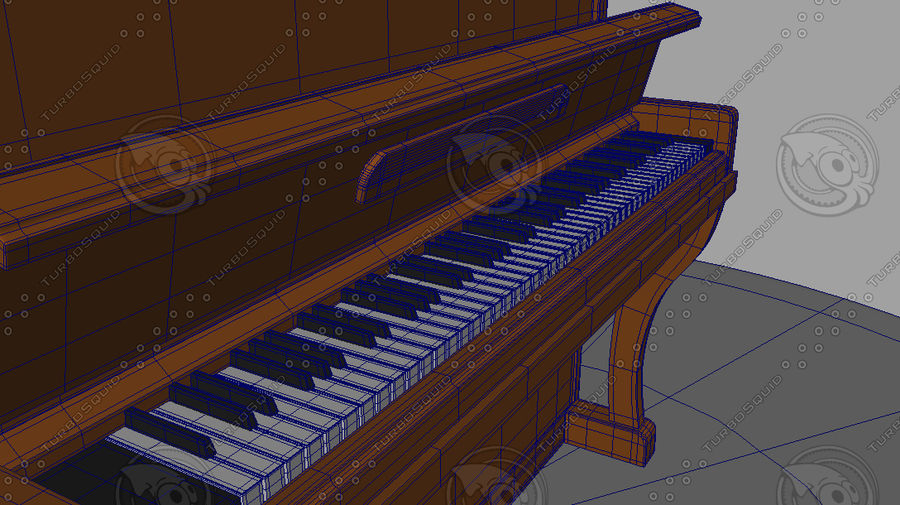 Piano royalty-free 3d model - Preview no. 7