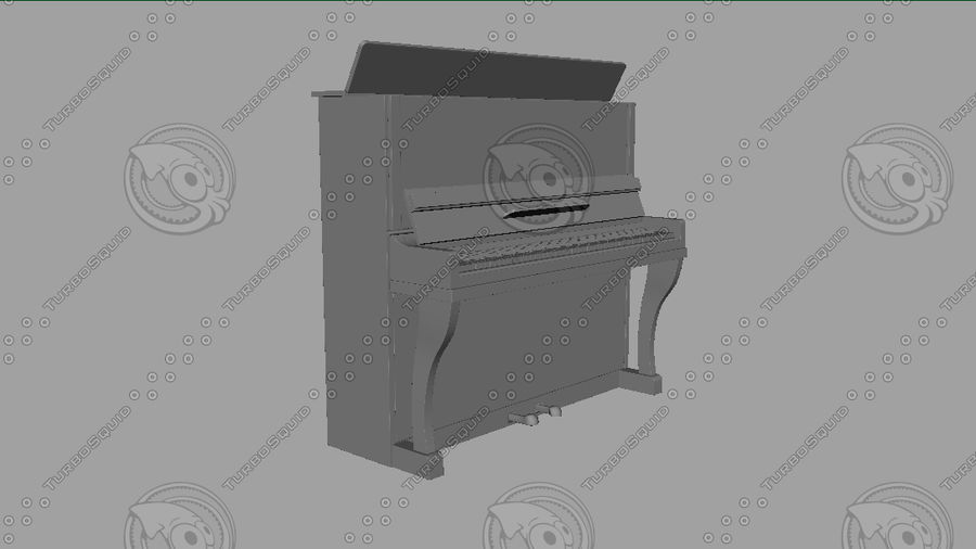 Piano royalty-free 3d model - Preview no. 11